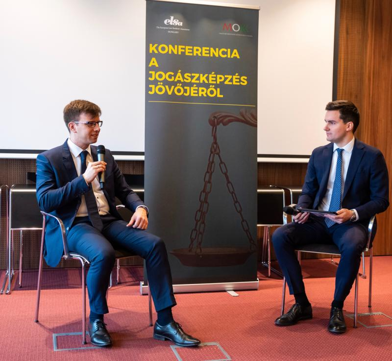 János Bóka at the ELSA Future of Legal Education Conference.